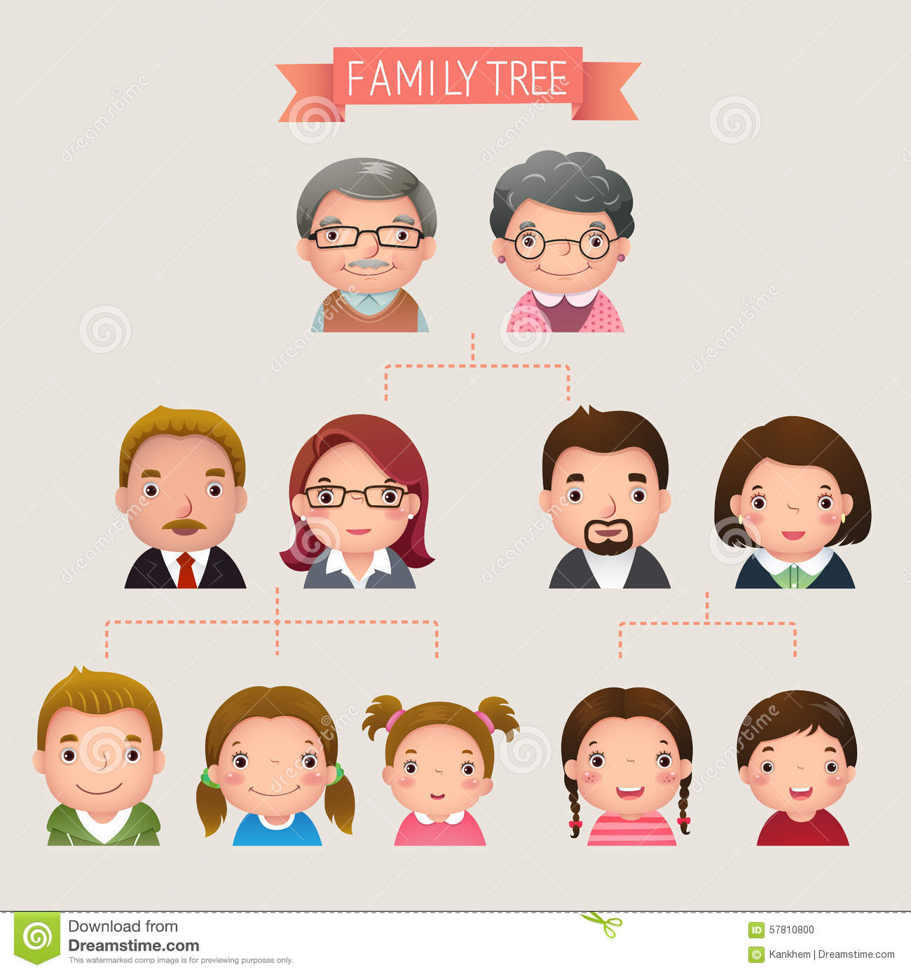 Family Tree Stock Vector Illustration Of Child Diagram