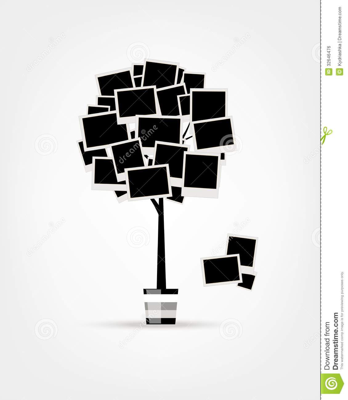 family tree relatives people silhouettes stock vector colourbox