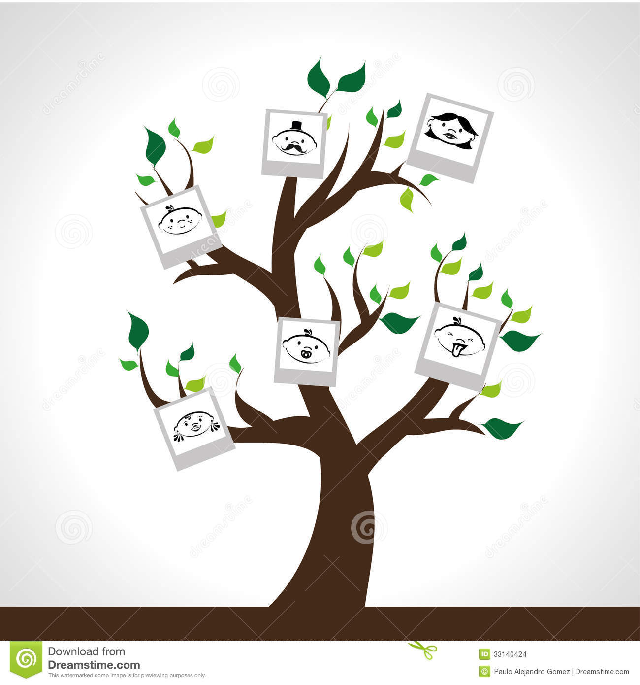 Colorful Family Tree Background