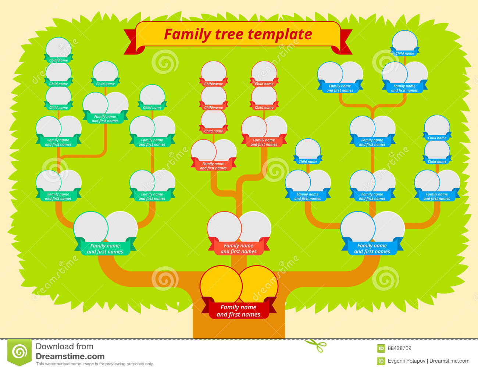 Family Tree Genealogy Table Stock Vector Illustration Of Family