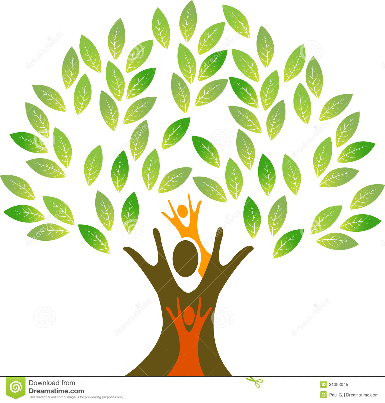 Family tree stock vector illustration of beautiful - Family tree desktop wallpaper ...