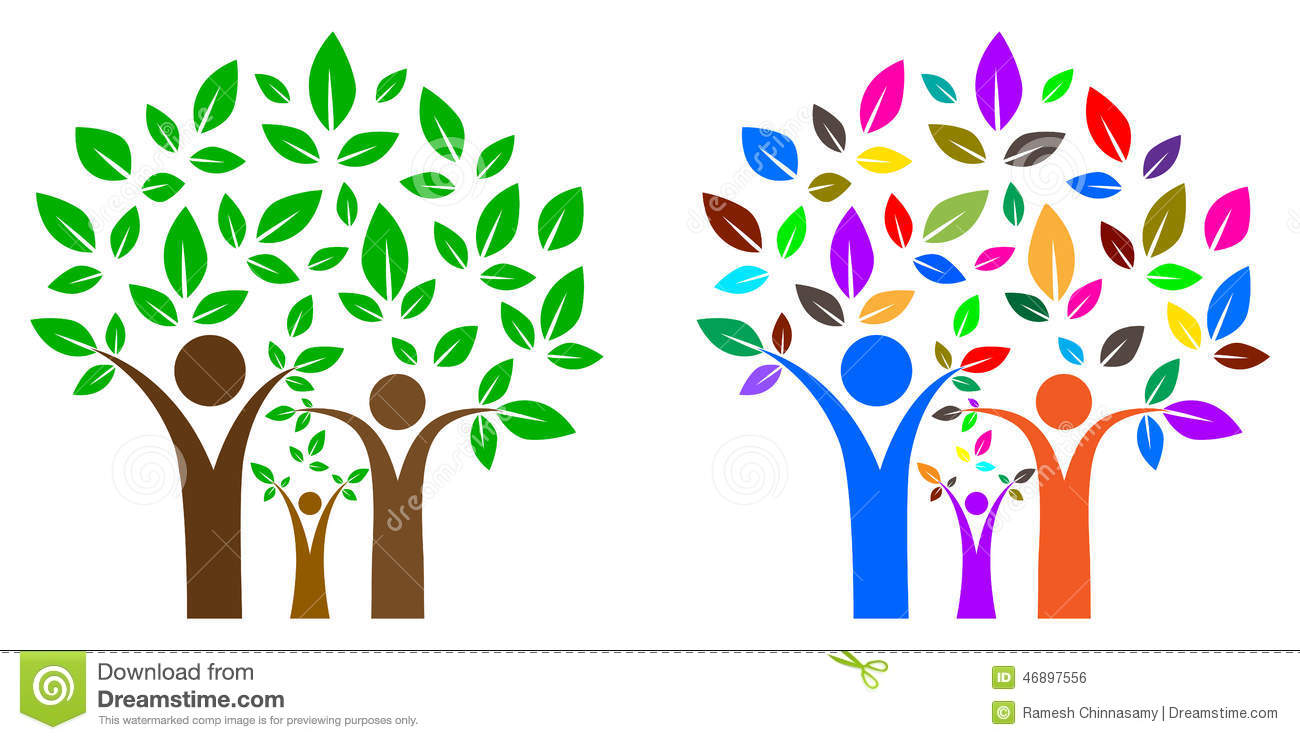 Family tree stock vector illustration of environmental - Family tree desktop wallpaper ...