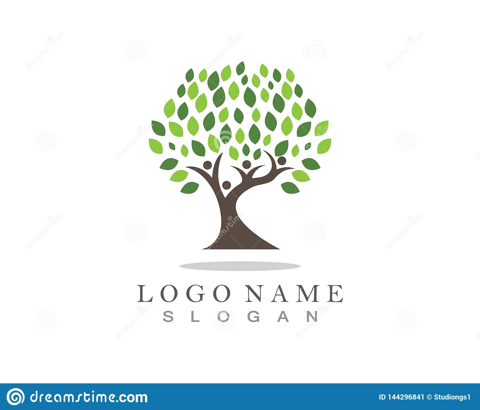 Family Tree Logo Template Stock Vector Illustration Of