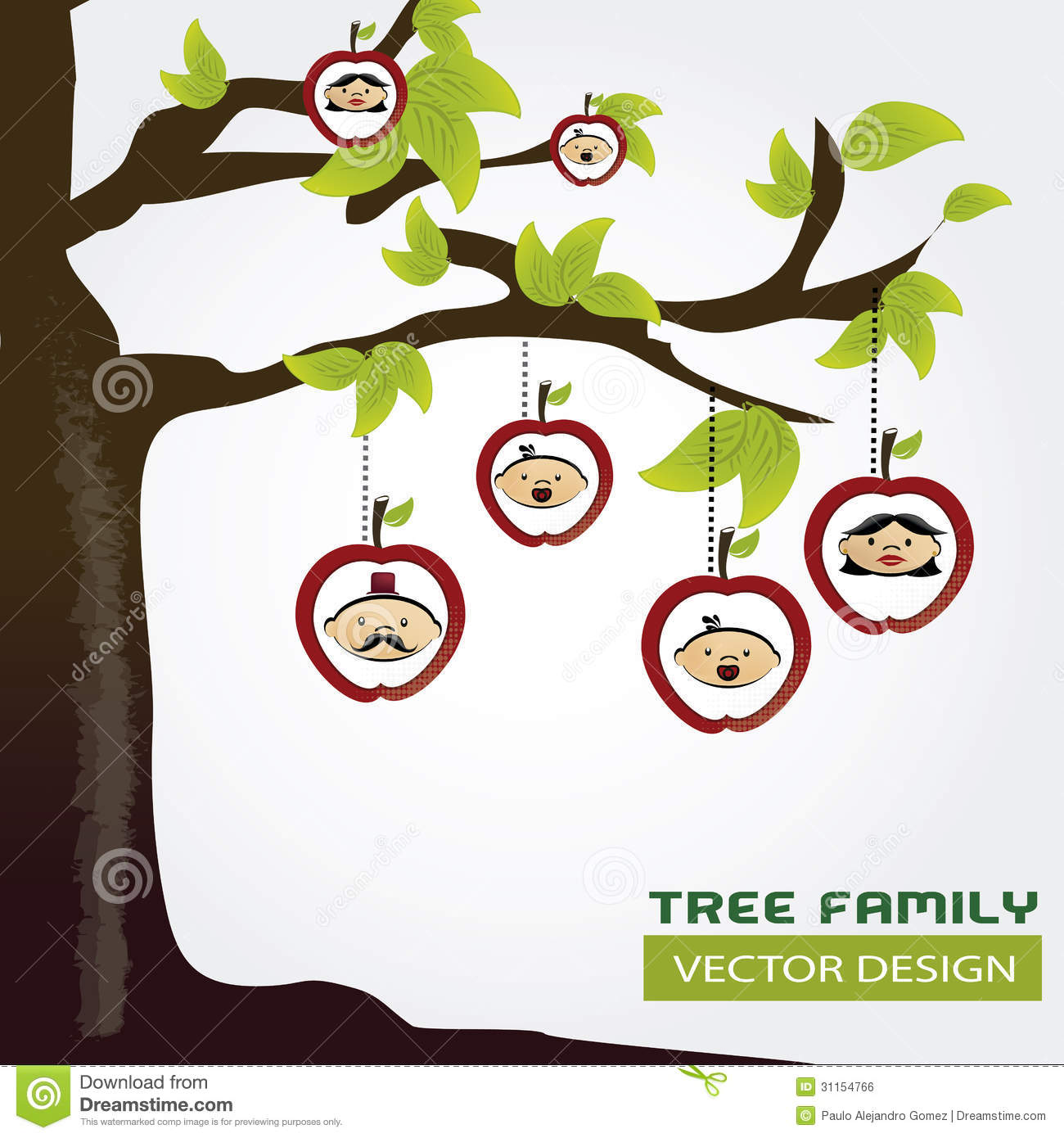 family tree stock vector illustration of branch love 31154766