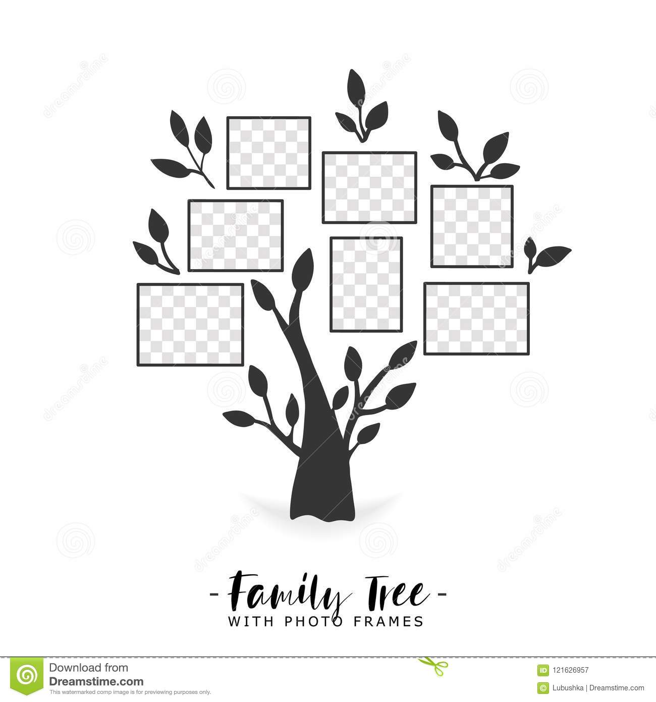 Family Tree With Photo Frames. Stock Vector - Illustration of ...