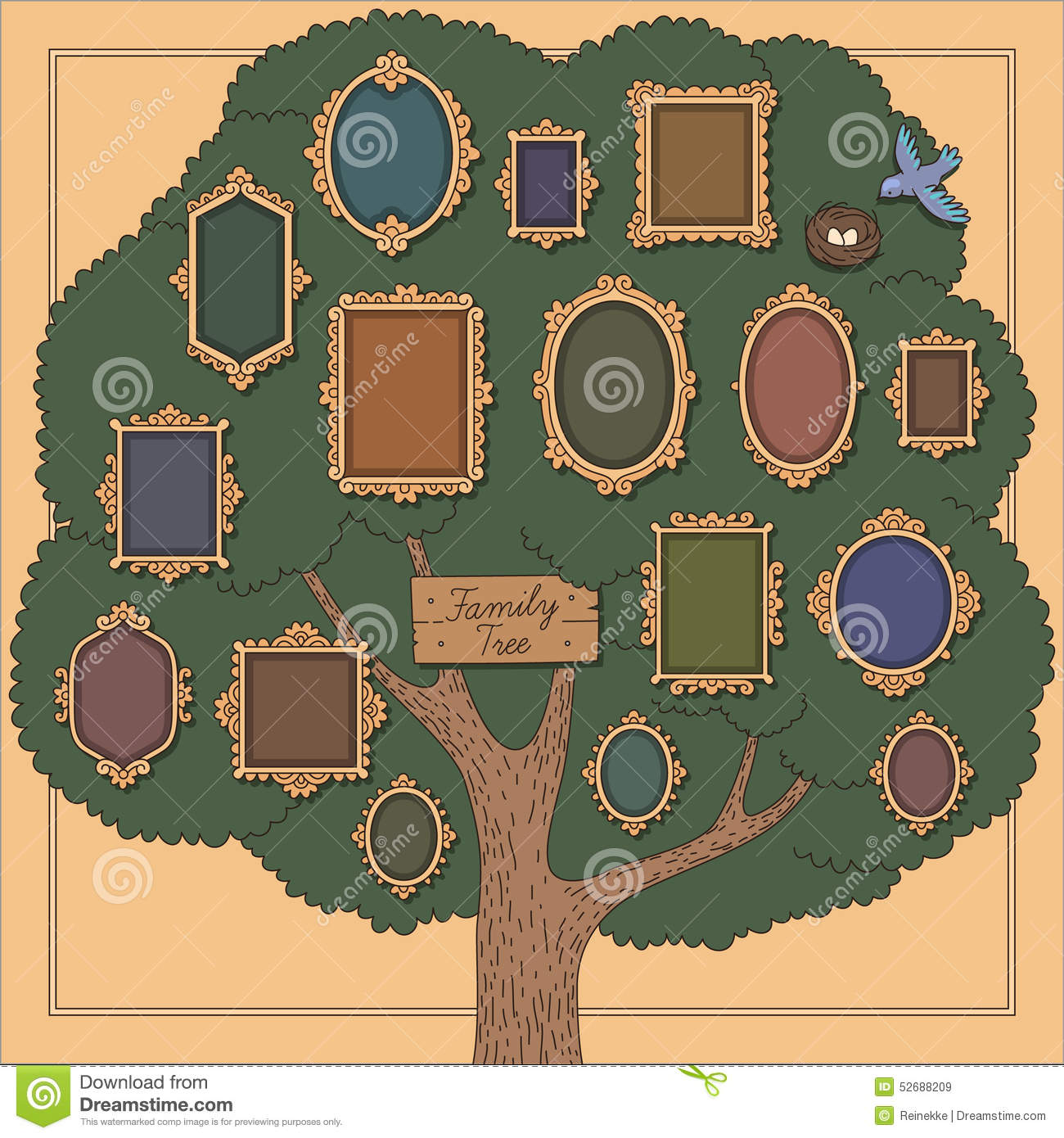 family tree stock vector