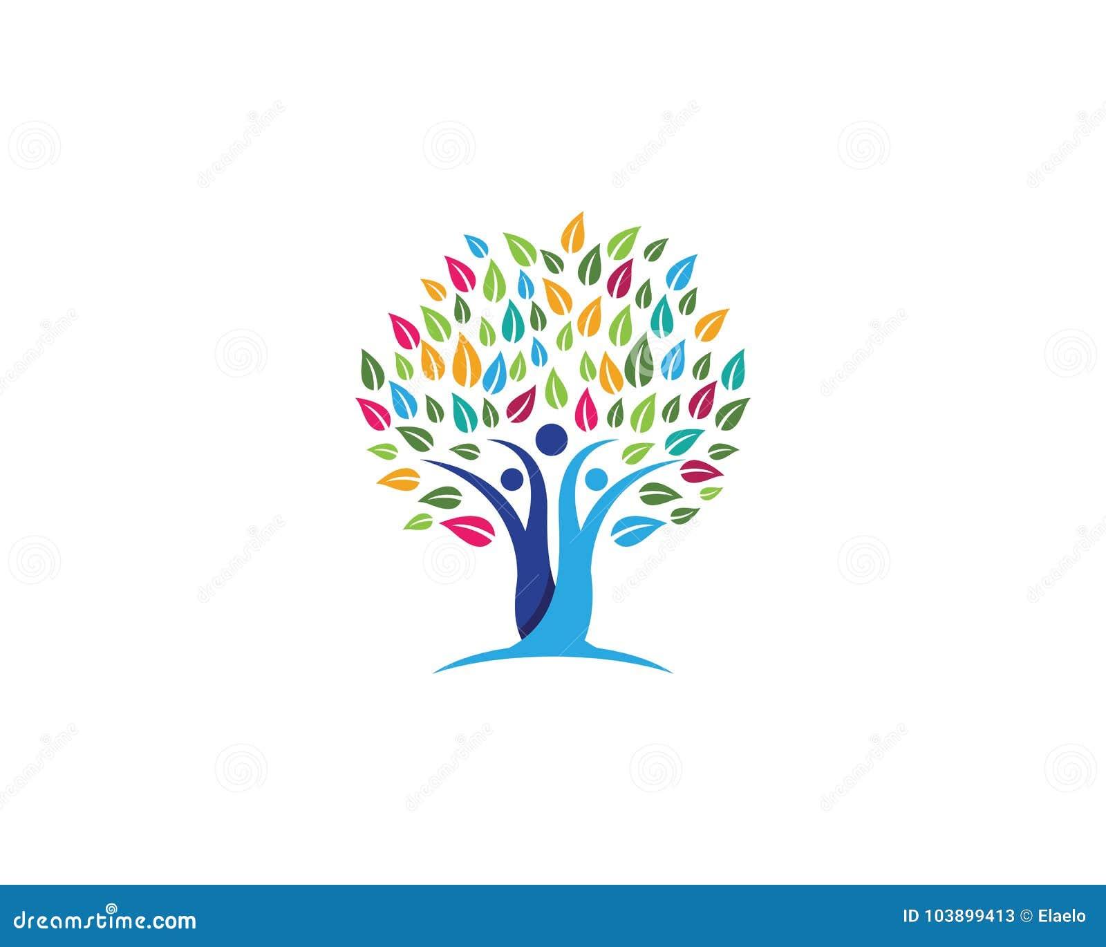Family Tree Symbol Icon Design Stock Vector Illustration Of Family