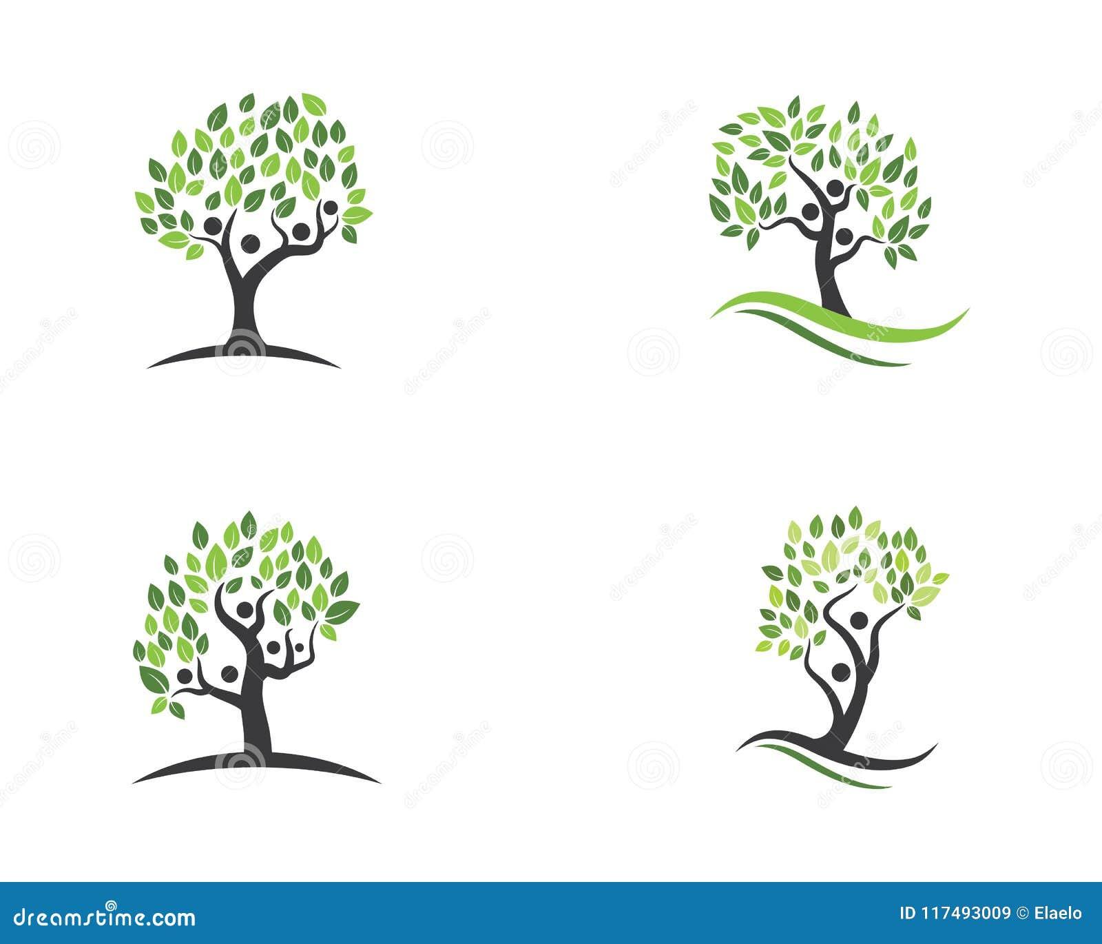 Family Tree Symbol Icon Stock Vector Illustration Of Corporation