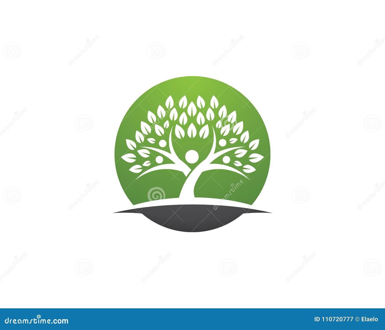 Family Tree Symbol Icon Logo Design Stock Vector Illustration Of