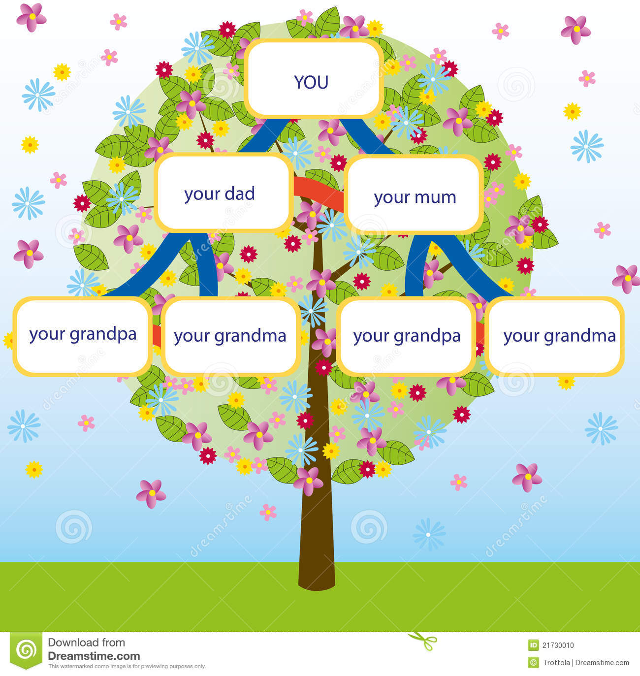 cartoon family tree stock vector illustration of tree 31181129