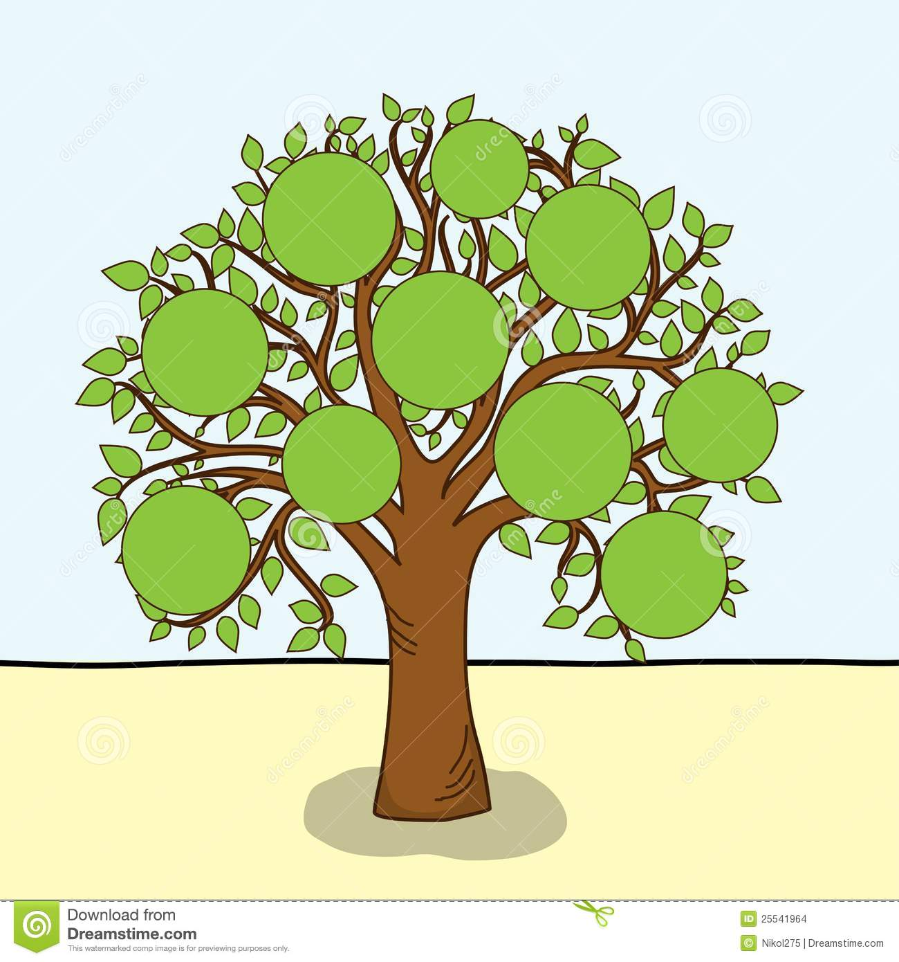 Family Tree Vector Stock Images Image 25541964