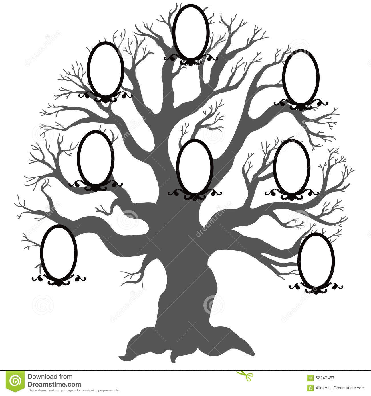 Family TreeVector Illustration Stock Vector Image 52247457