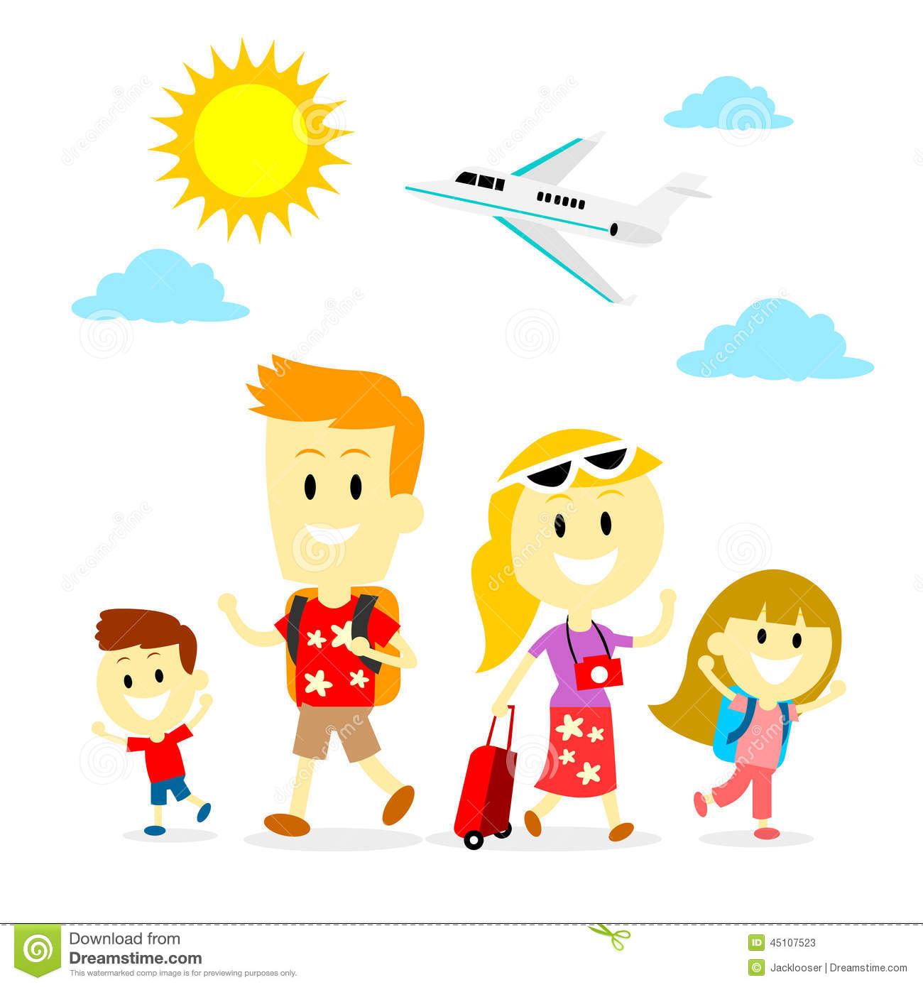 Family Trip Stock Vector Image 45107523