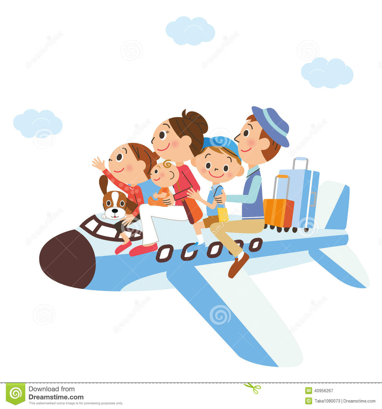 It Is A Family Vacation On, Airplane Stock Vector ...