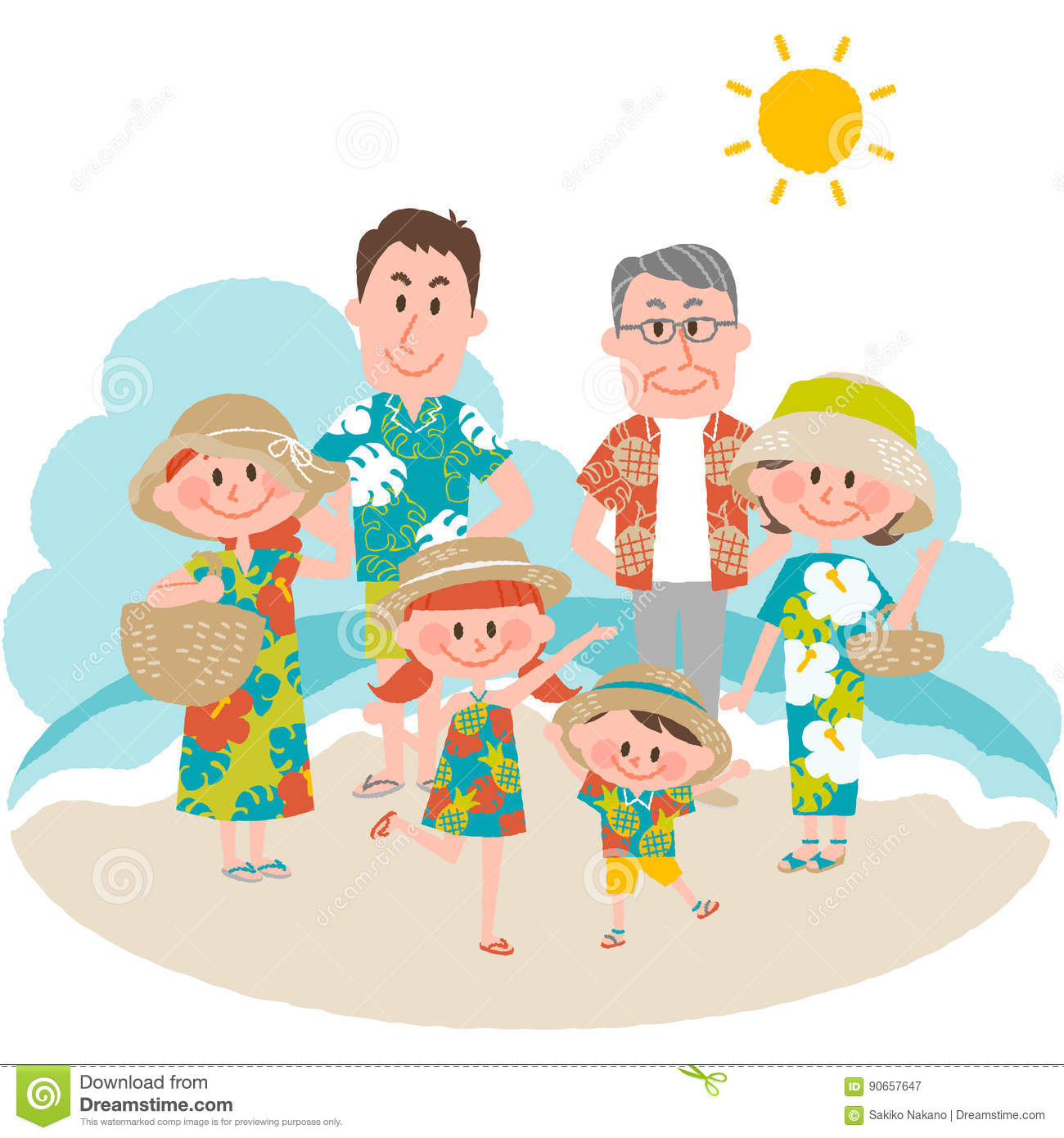 A family vacation on the beachfront