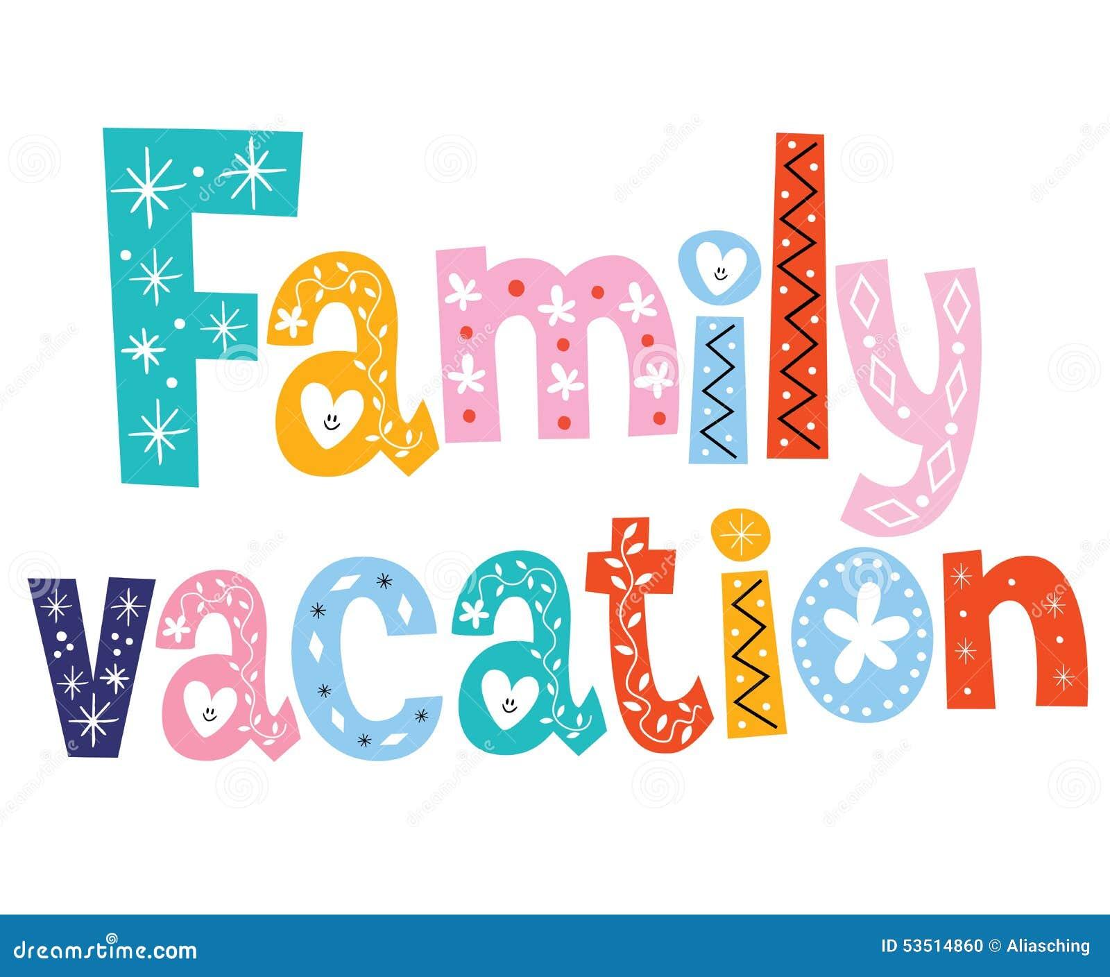 Family vacation stock vector. Illustration of decorative ...