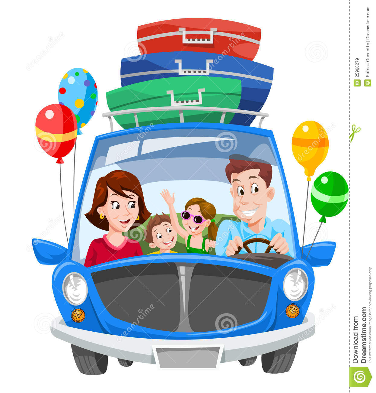 Family Vacation, Illustration Stock Vector - Illustration ...