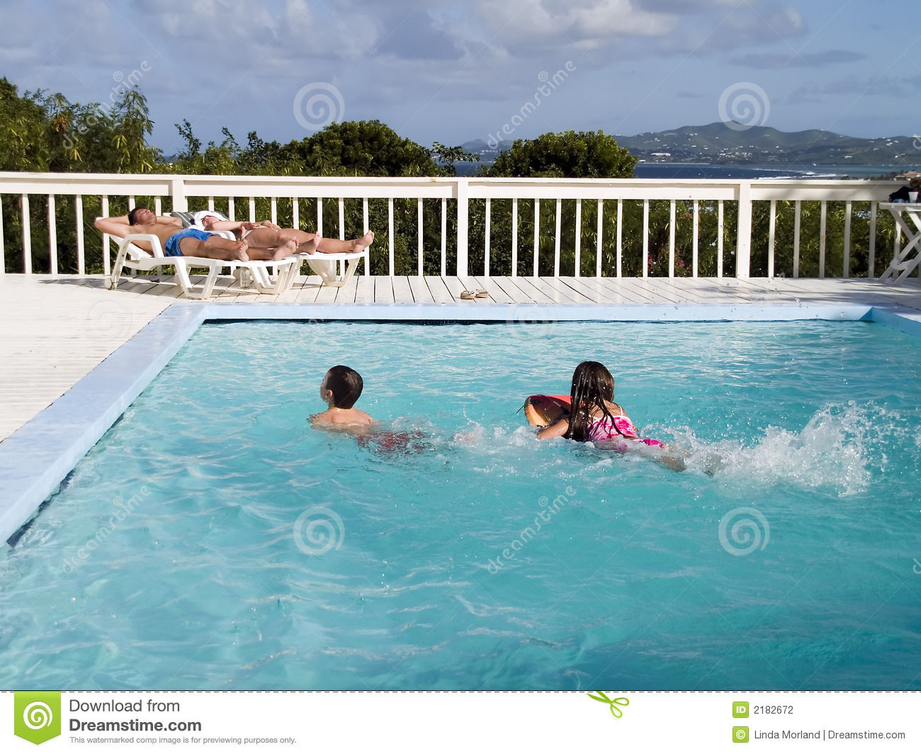 Family vacation by pool stock photography image 2182672 for Family swimming pool