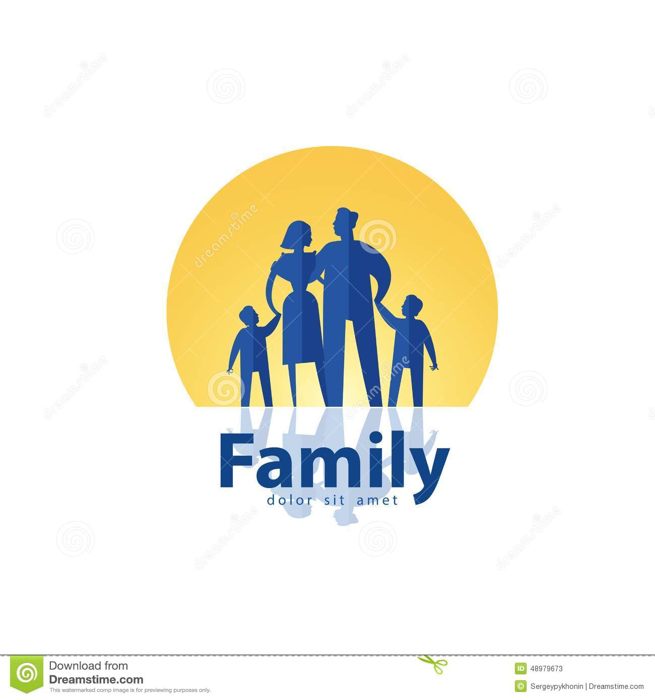 family vector logo design template people or stock vector