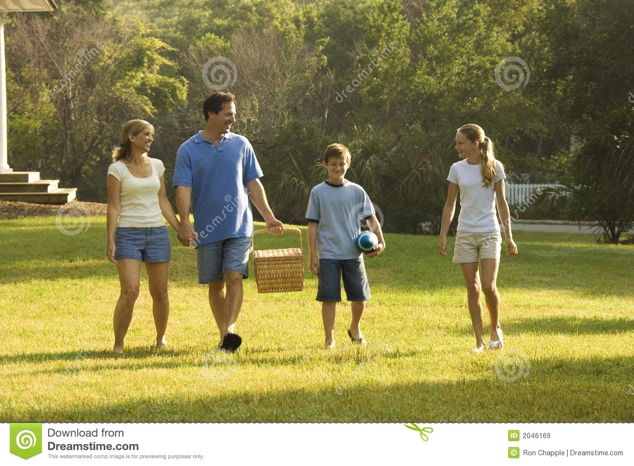 Family Walking In Park. Royalty Free Stock Images - Image: 2046169