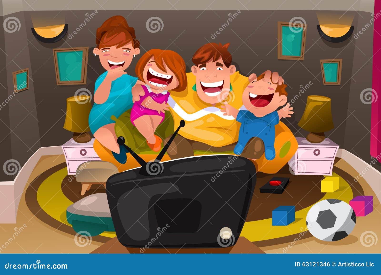 family watching tv together clipart wwwpixsharkcom