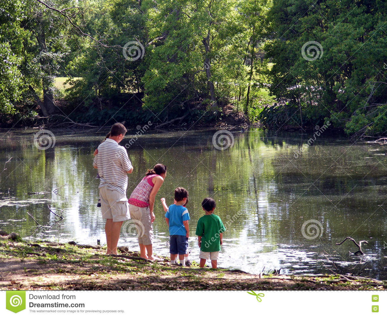 Family at Waters Edge