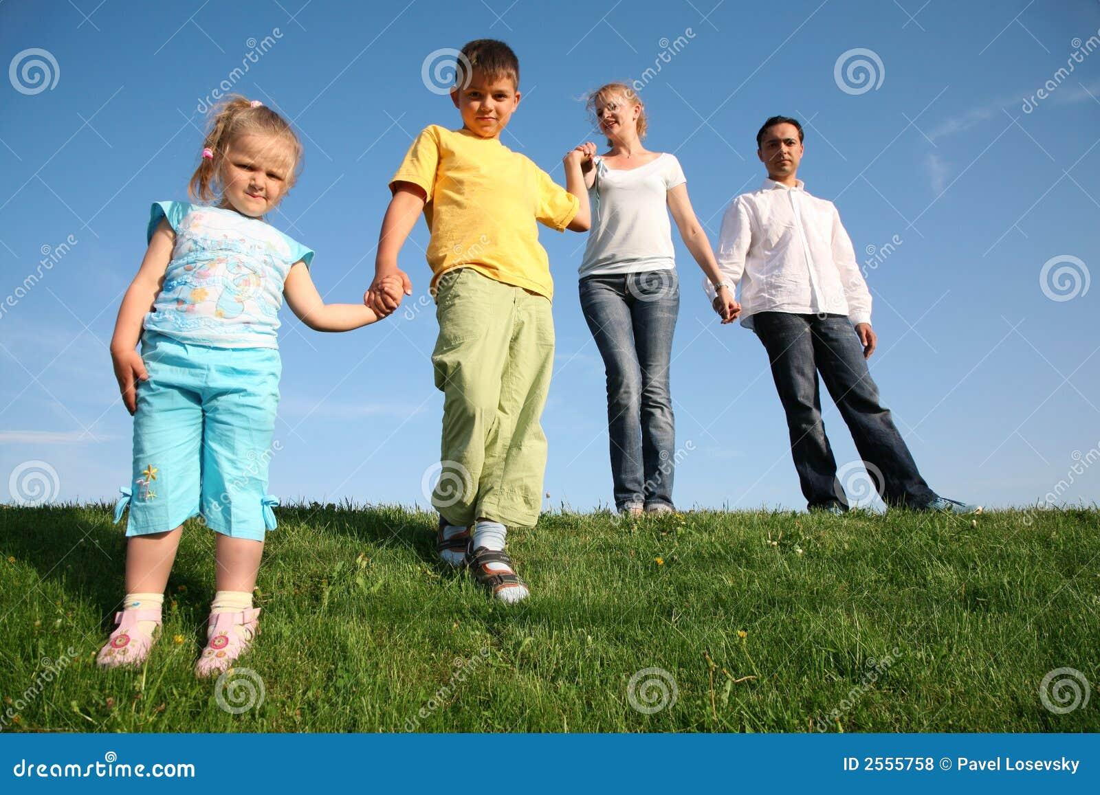 Download Family wih children stock photo. Image of girls, cheerful - 2555758