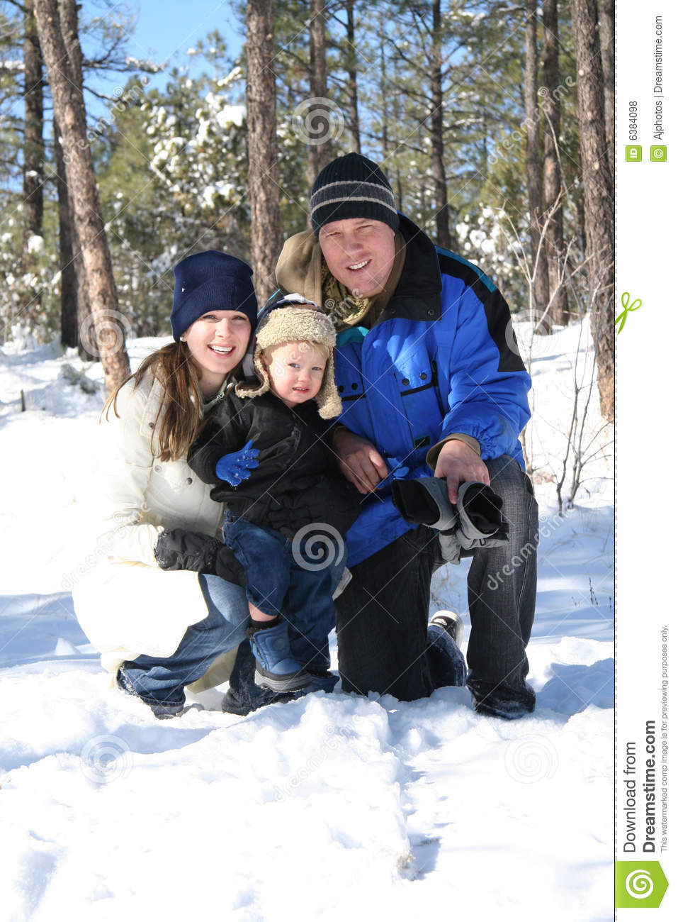 Family on a Winter Holiday