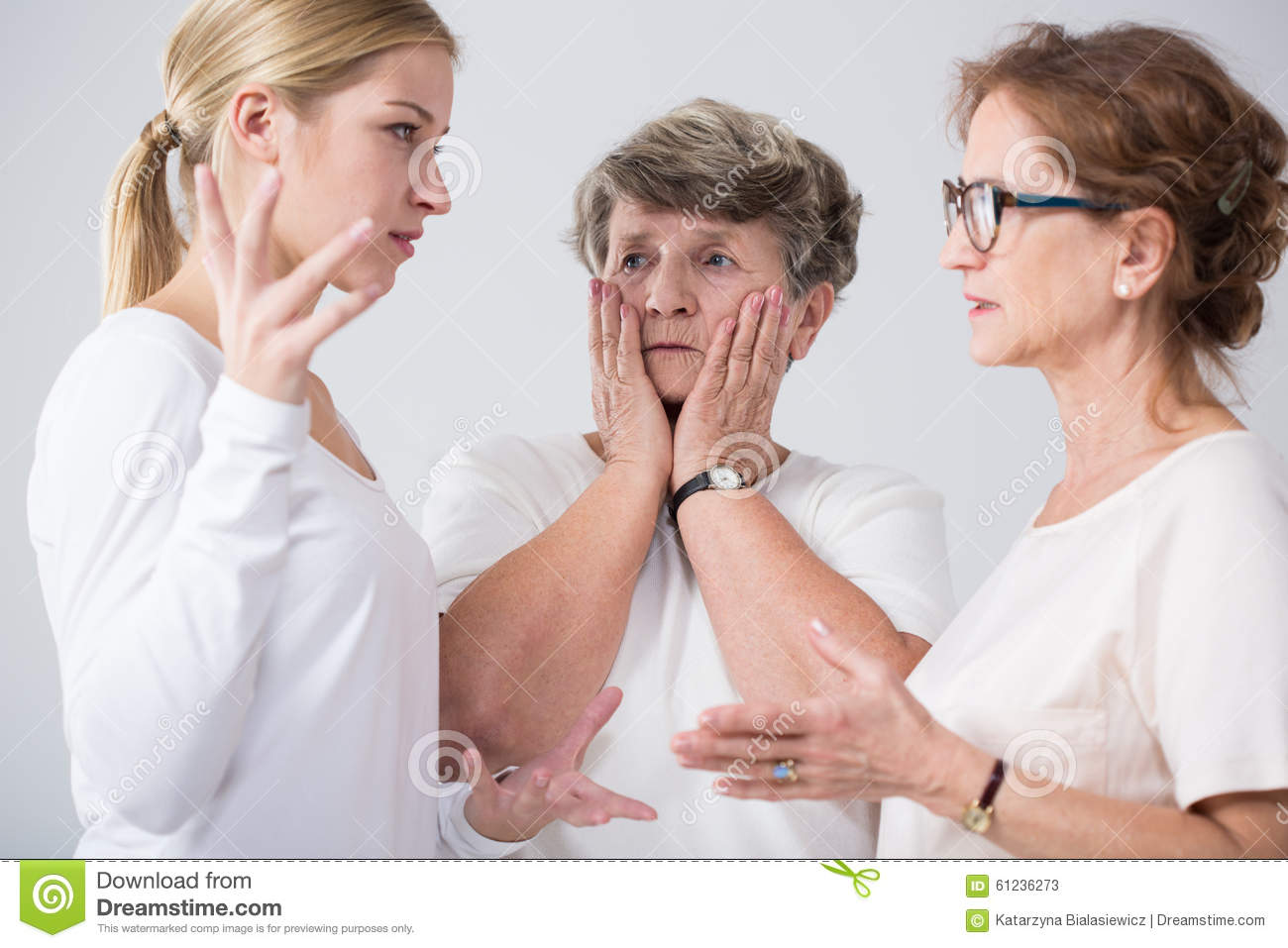 Family women talking together