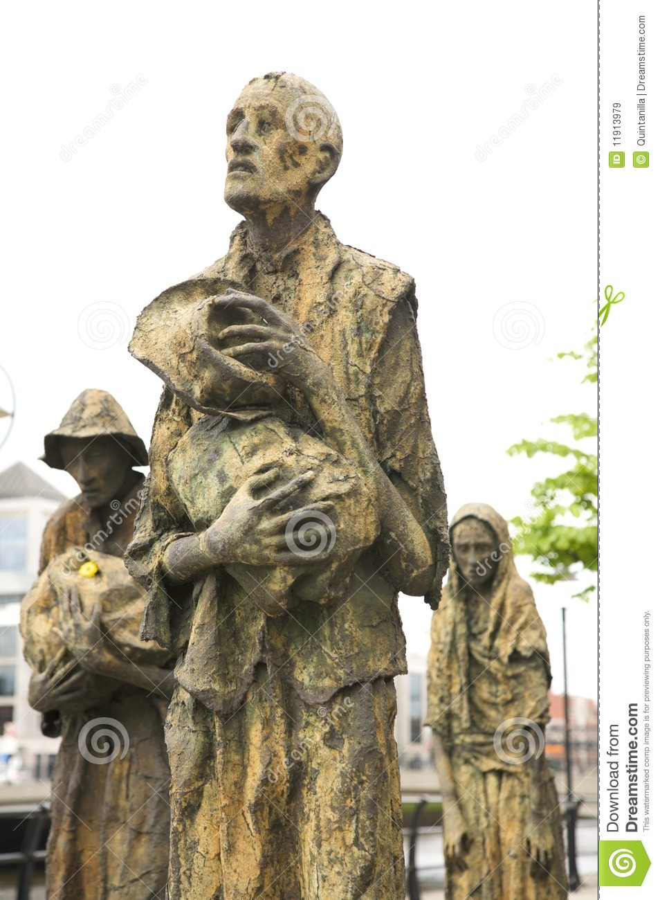 famine memorial statues royalty free stock images image