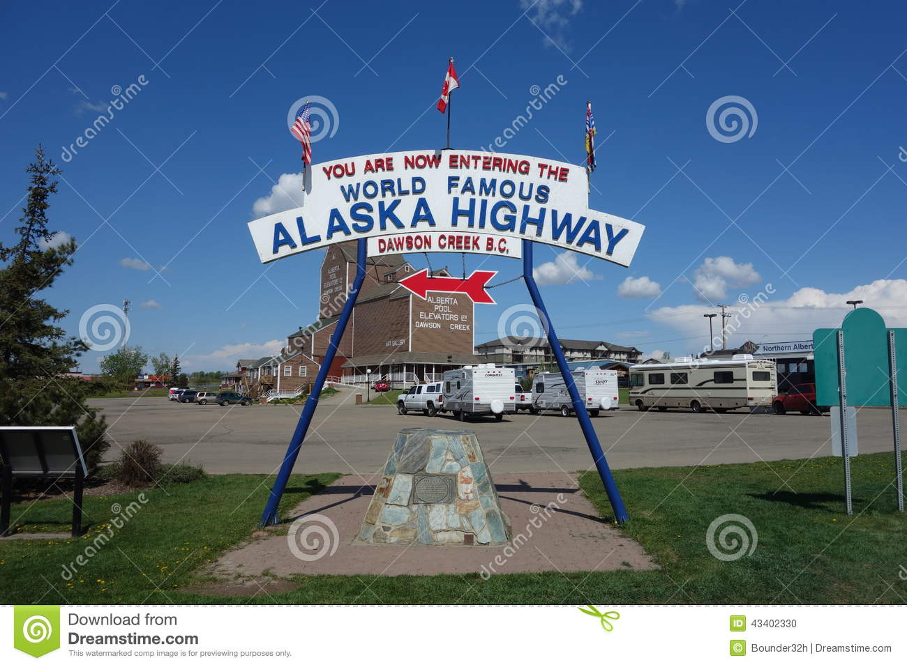 The famous alaska highway sign