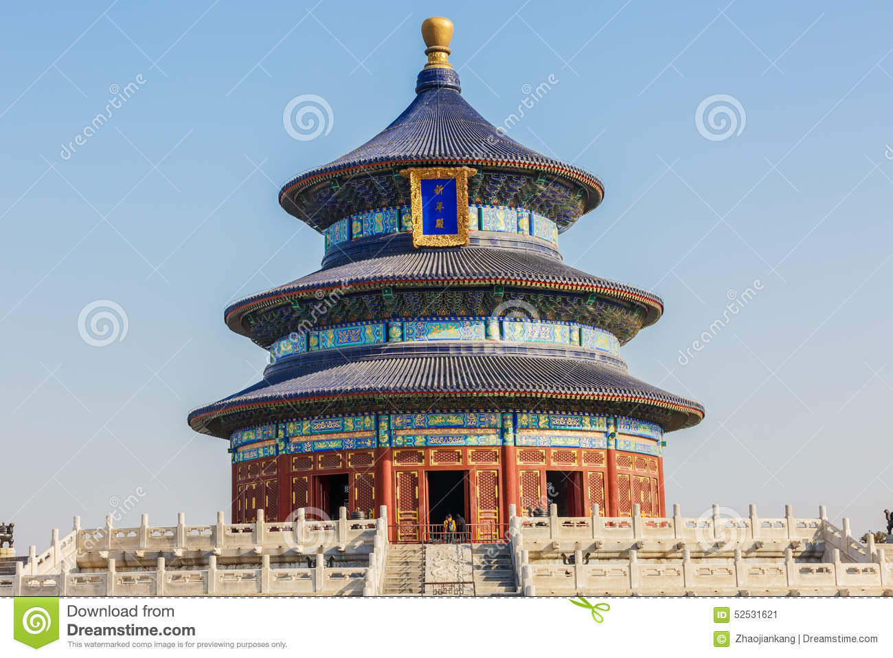 Famous Ancient Architecture Of The Temple Of Heaven In Beijing, China