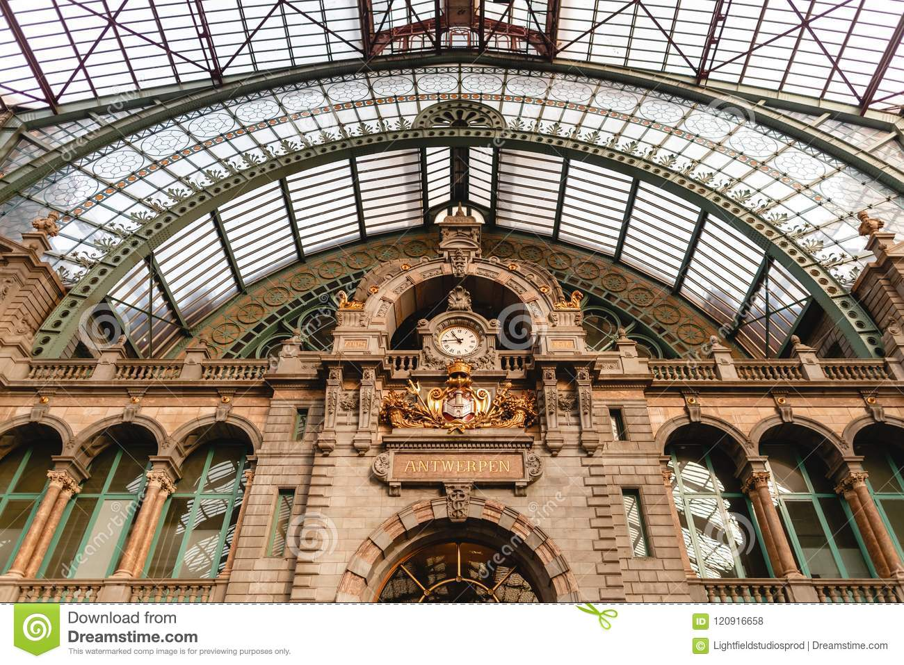 Famous Antwerpen Centraal Station Stock Photo Image Of Landmark Traditional 120916658