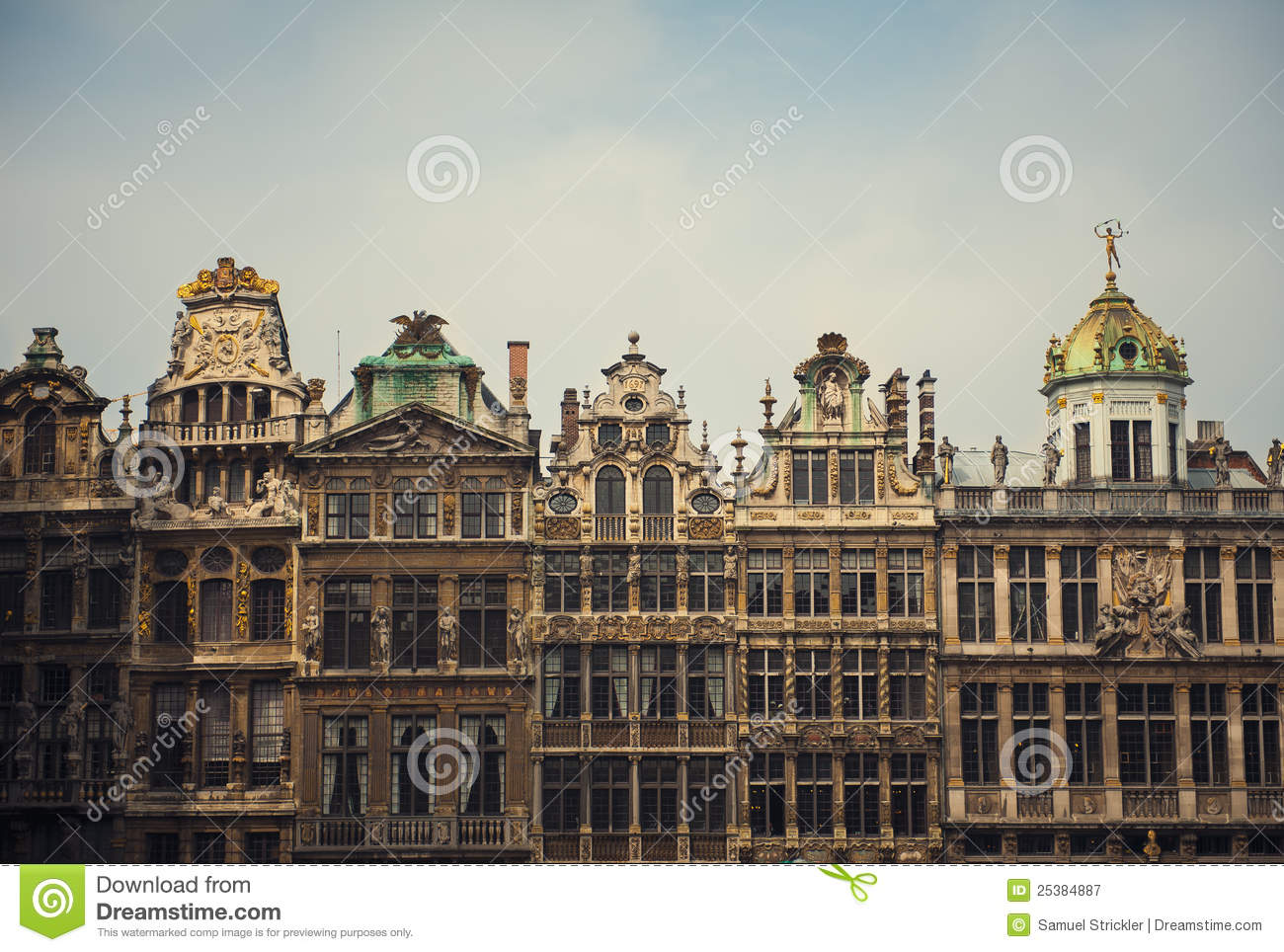 Famous Architecture In Brussels Belgium Stock Image