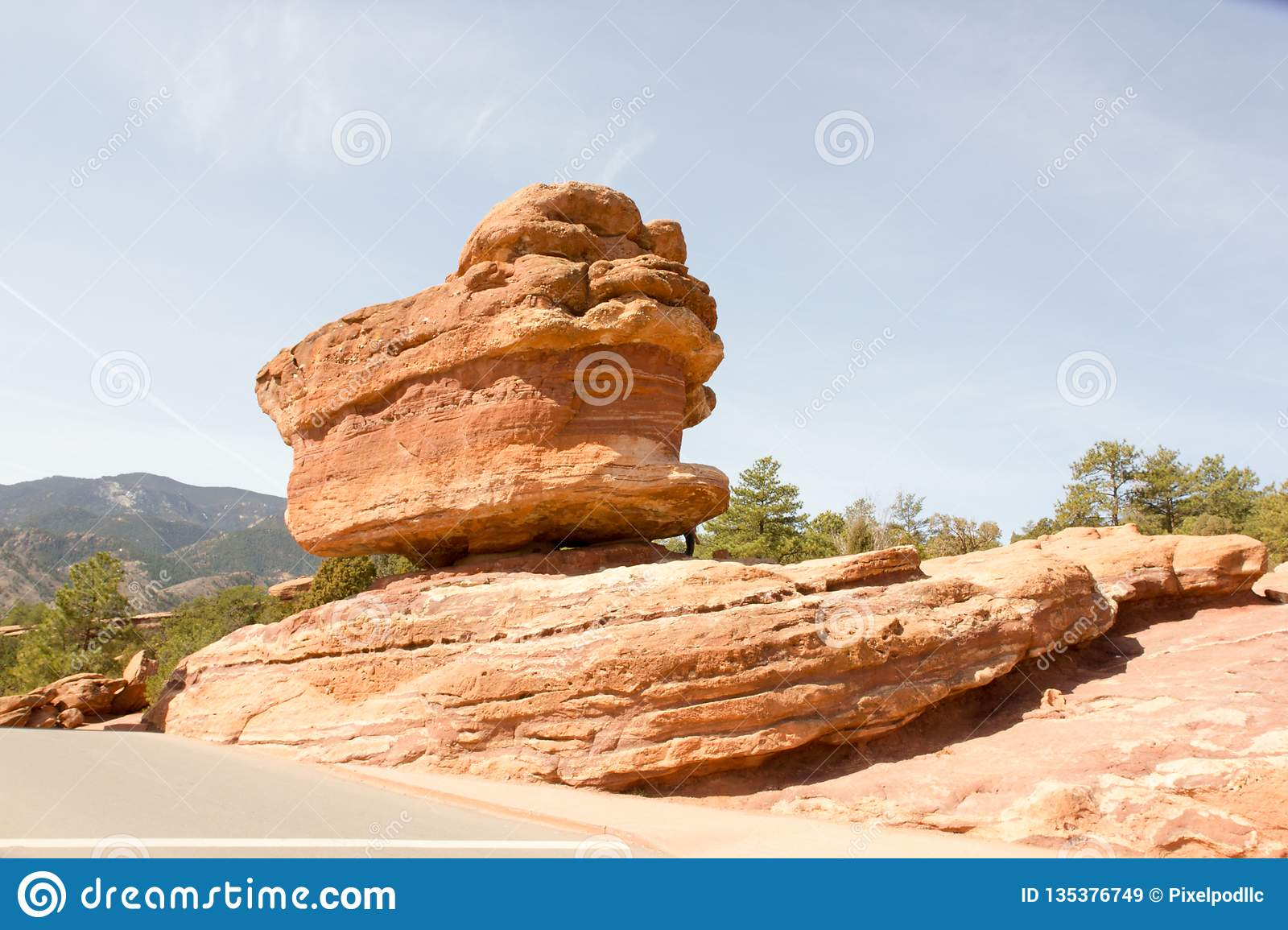 The Famous Balanced Rock In Garden Of The Gods Colorado
