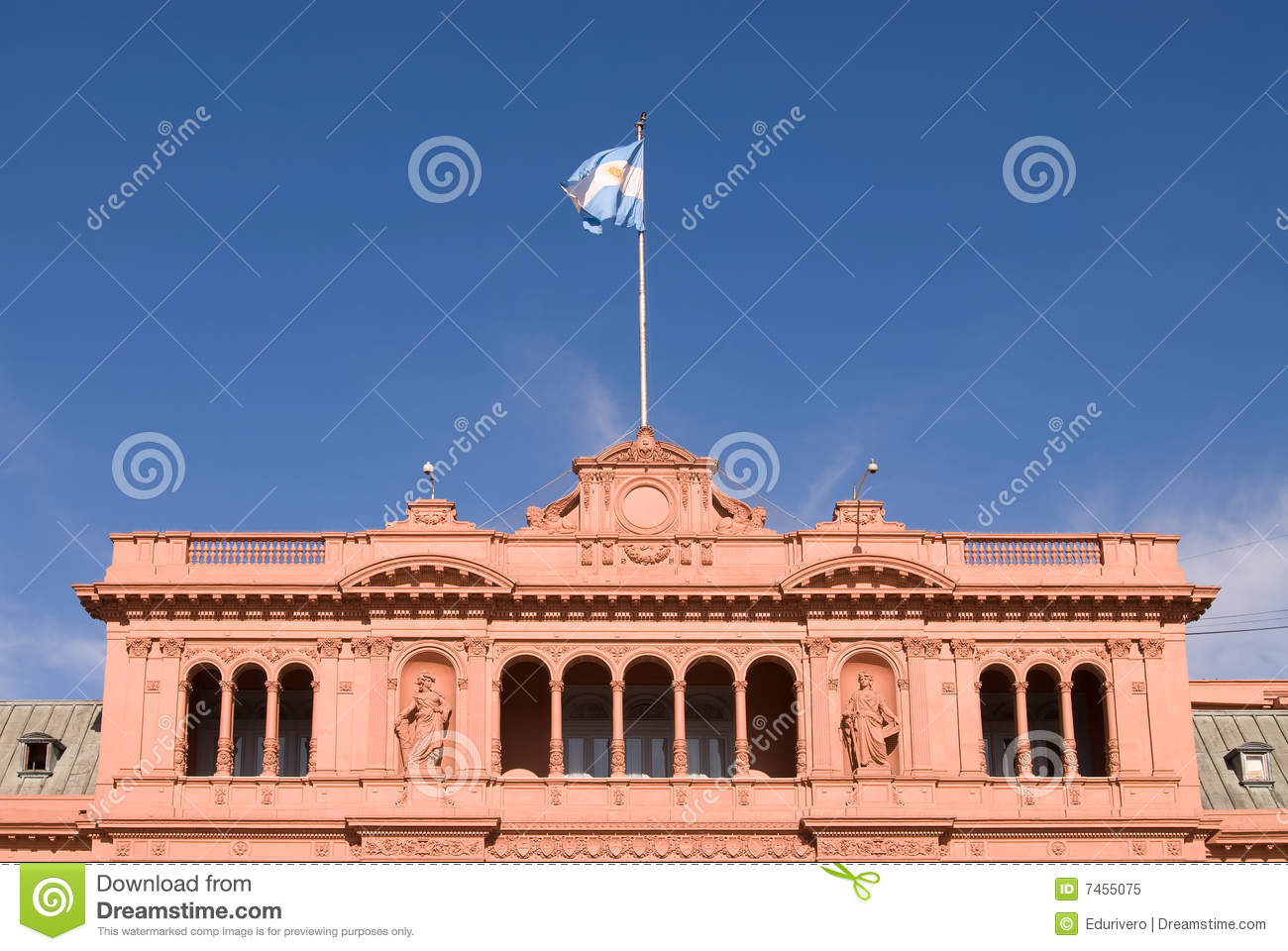 Famous balcony in casa rosada royalty free stock photo for Famous balcony