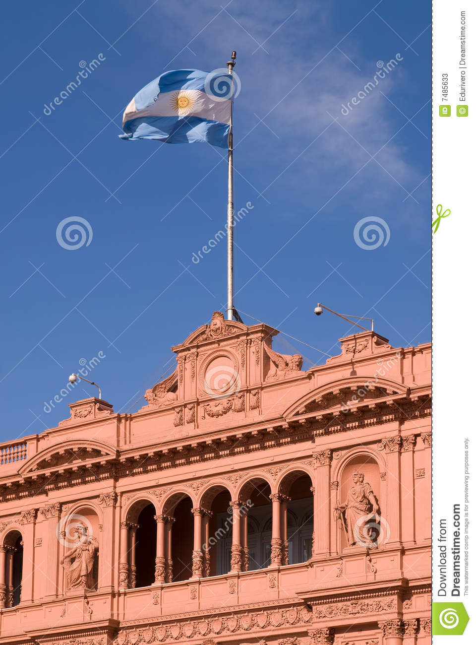 Famous balcony in casa rosada where evita talks stock for Famous balcony