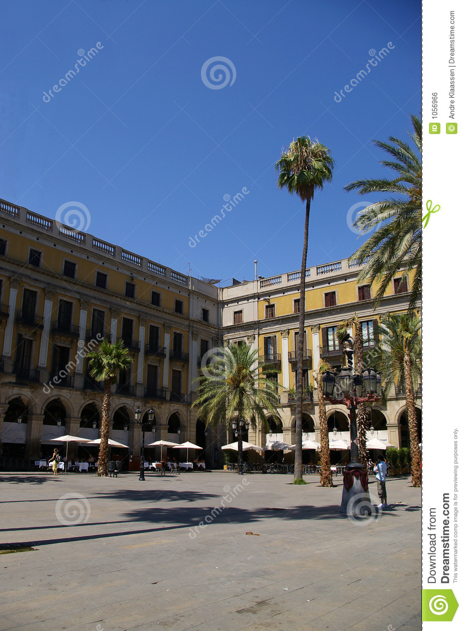 Famous Barcelona Square Royalty Free Stock Image  Image