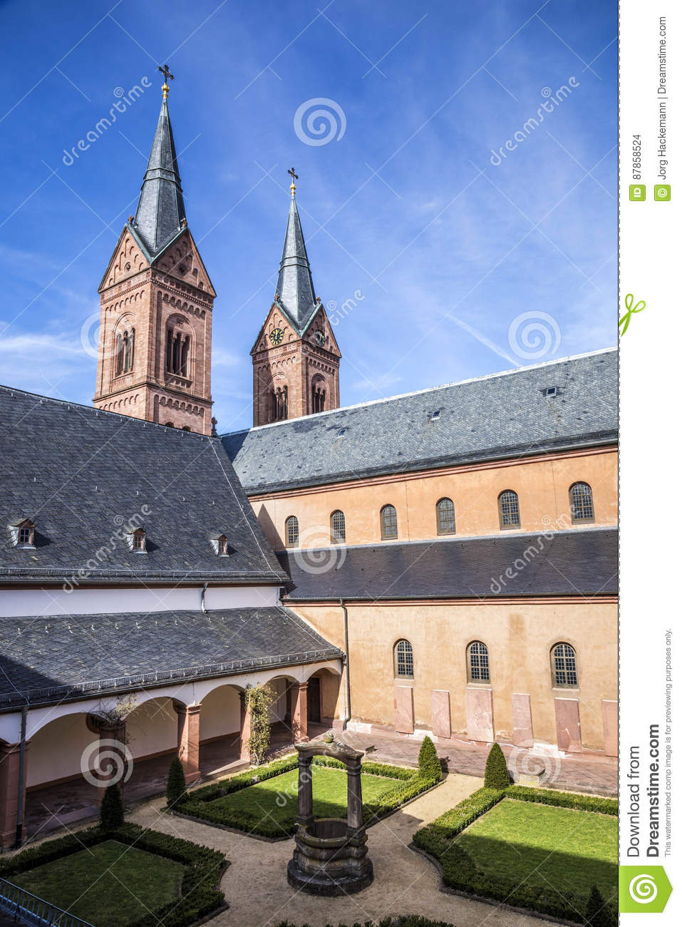 Famous benedictine cloister in Seligenstadt, Germany