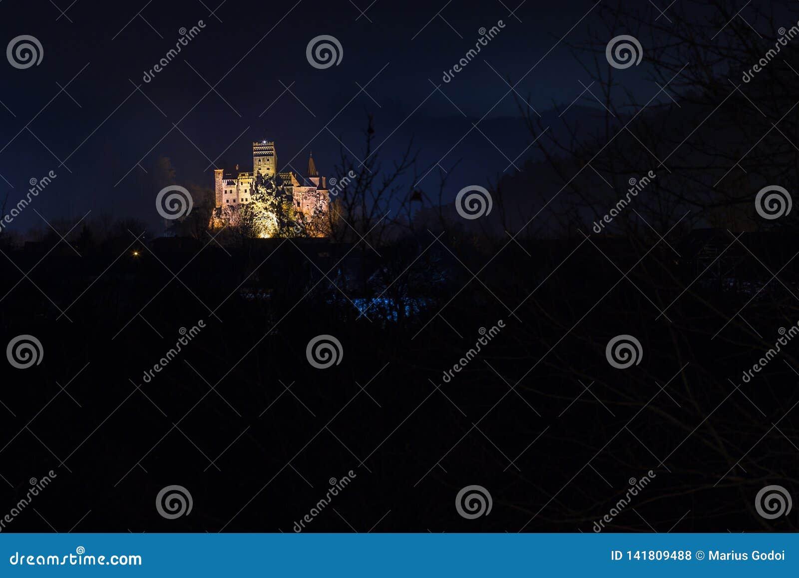 Famous Bran castle in Romania