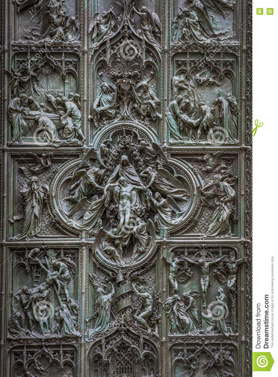 Royalty-Free Stock Photo. Download Famous Bronze Doors ... & Famous Bronze Doors Of Milan Cathedral Italy Stock Photo - Image ... Pezcame.Com