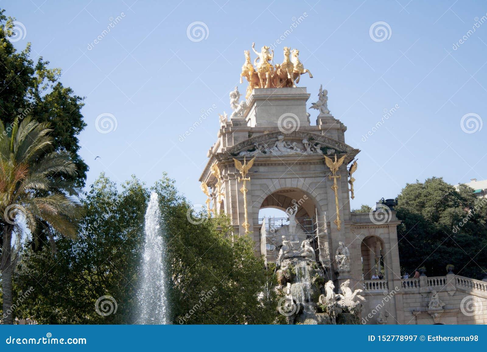 Parc of Ciutadella in Barcelona