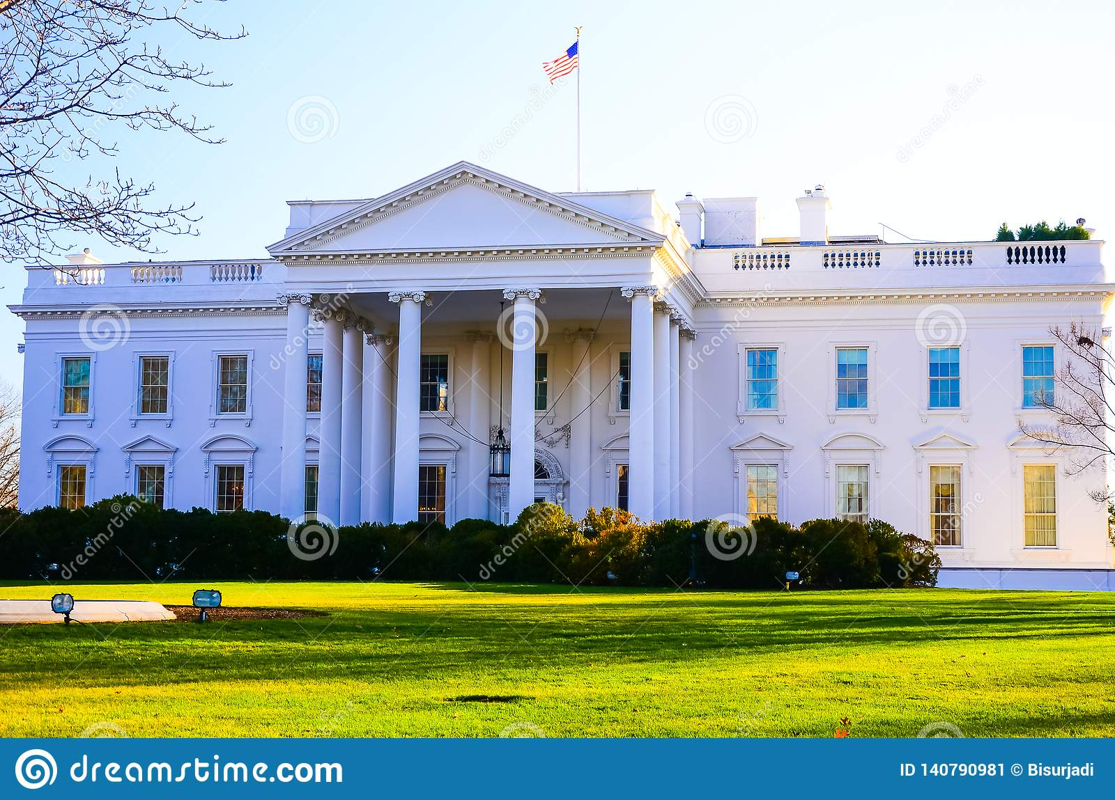 The famous building in the US America, the White House