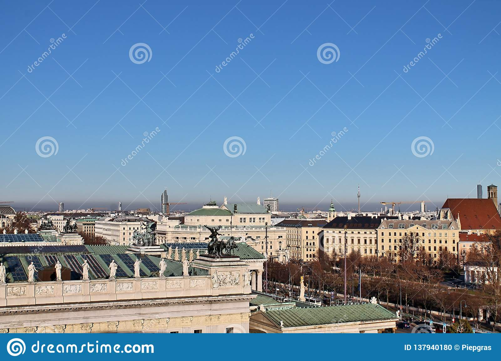 Famous buildings and architecture of Vienna in Austria Europe