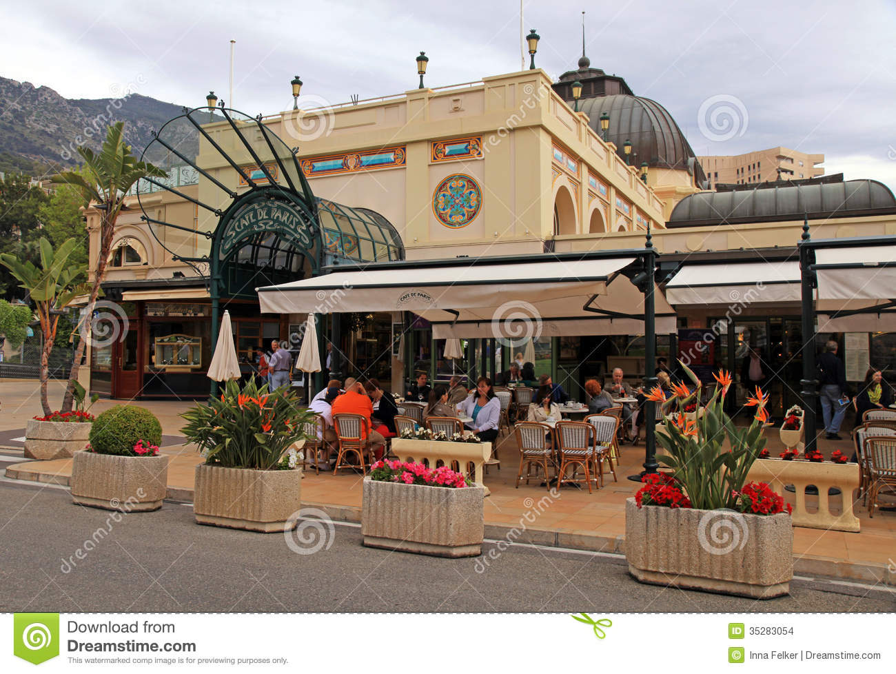 Cafe De Paris Restaurant Monaco