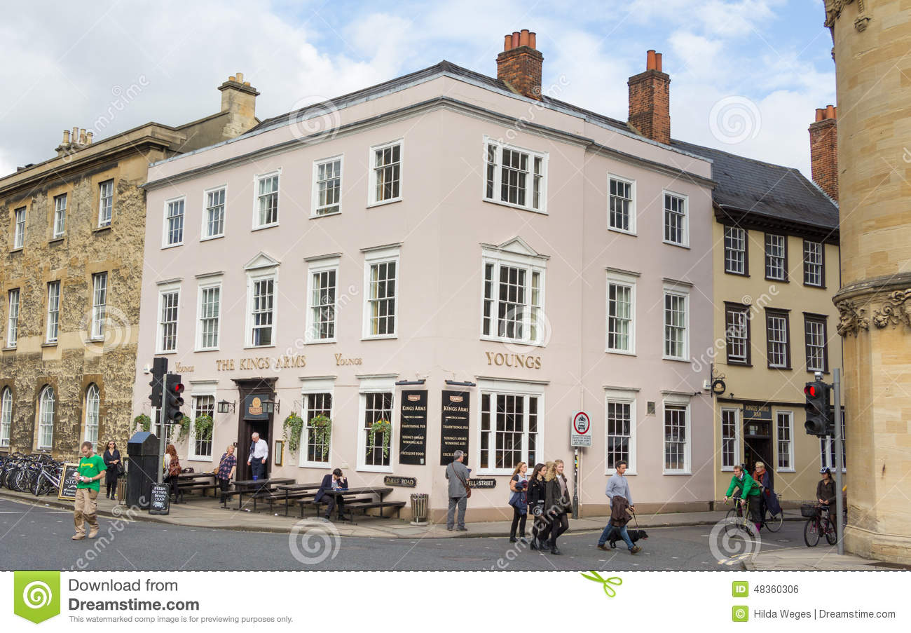 Famous cafe Kings Arms in Oxford UK