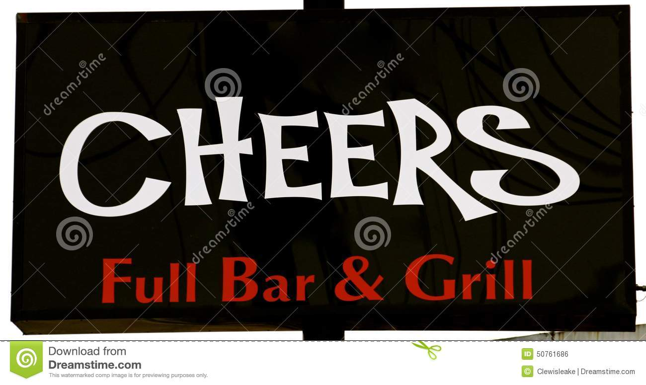 Same Name: Cheers Bar Sign Stock Photo. Image Of Downtown, Resturant