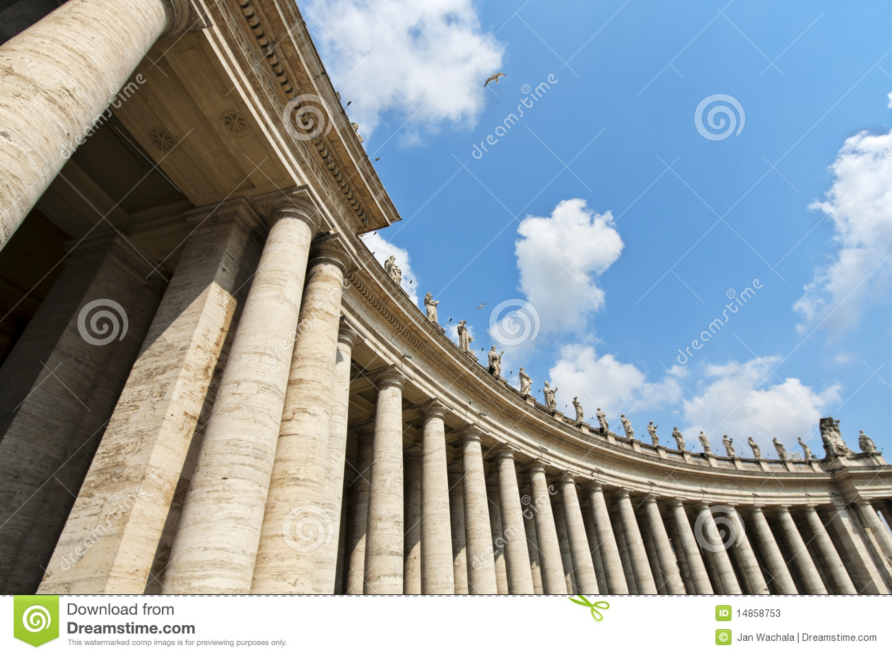 Download Famous colonnade stock image. Image of peter, outdoors - 14858753