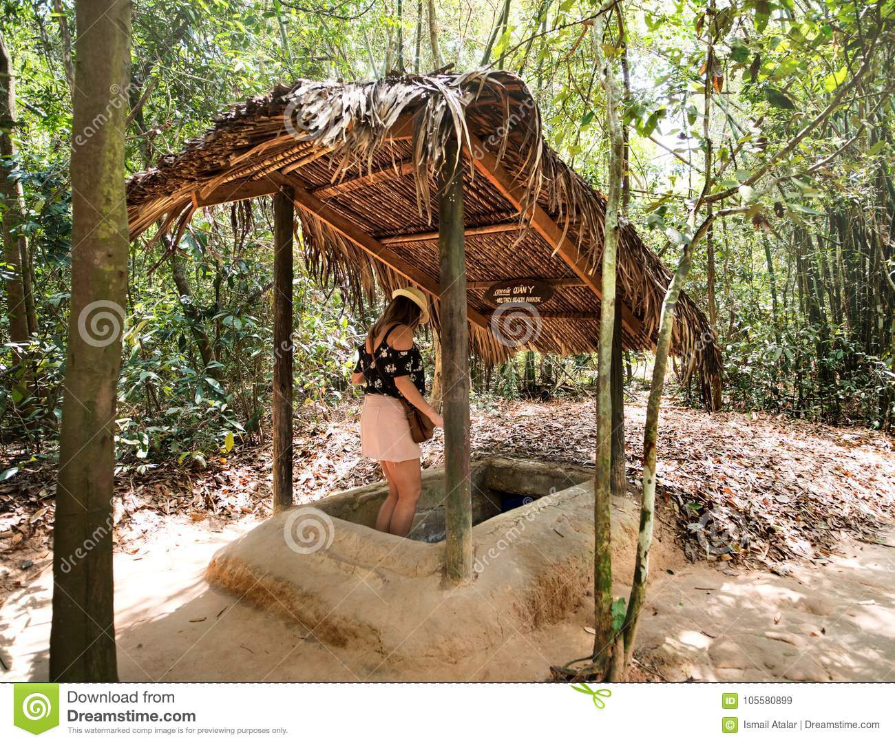 Famous Cu Chi Tunnels Vietnam Editorial Stock Image Image Of