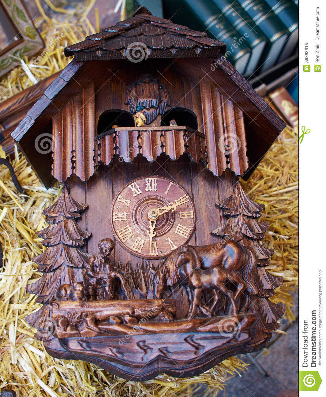 Famous Cuckoo Clock From The Black Forest Germany Stock